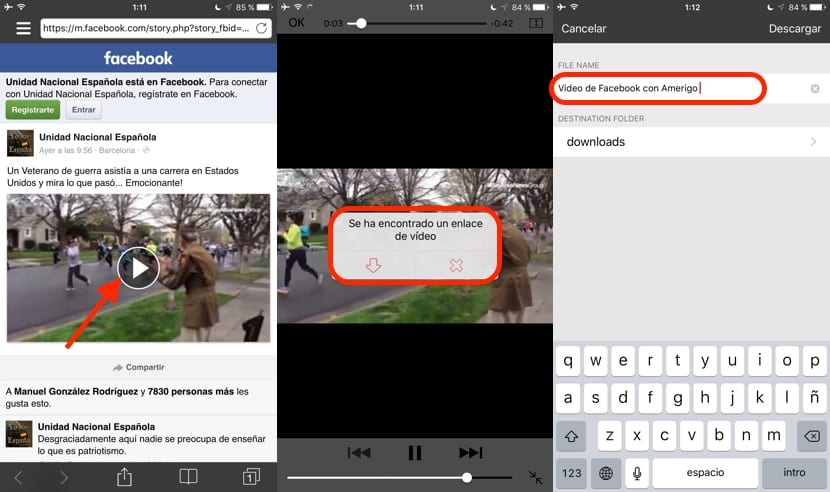 tutorial de cómo descargar vídeos de facebook en iPhone