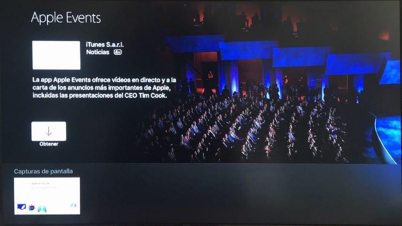 Descargar Apple Events desde tvOS