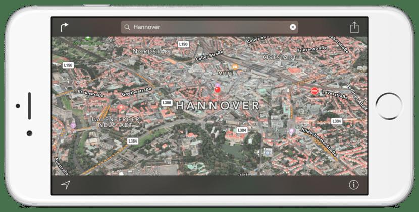 Hannover en Flyover, Mapas de Apple