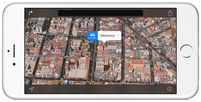 Salamanca en Flyover de los Apple Maps