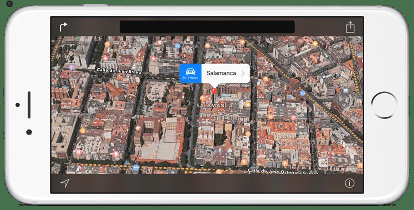 Salamanca en Flyover de los Apple Maps