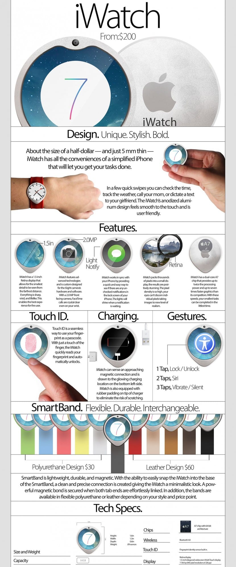 Concepto de Apple Watch