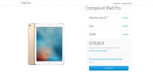 Ya disponible el iPad Pro de 9.7 pulgadas