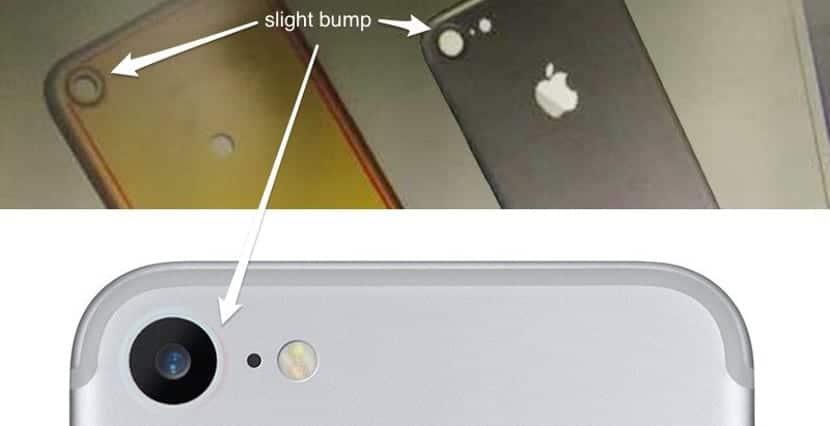 Bulto de la cámara del iPhone 7