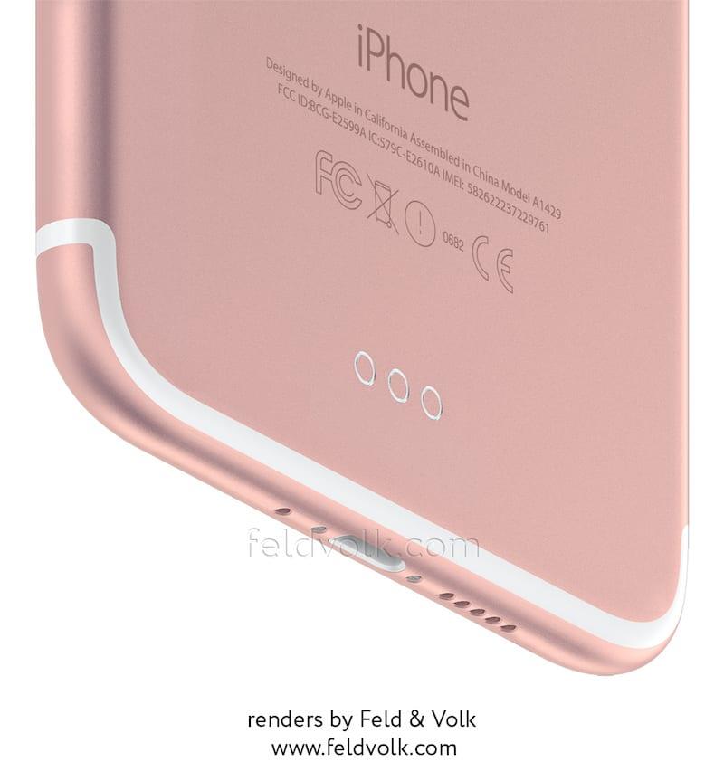 Render del posible iPhone 7