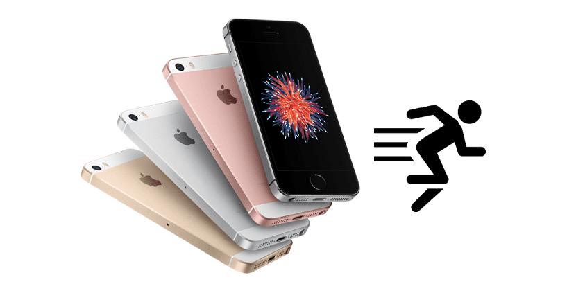 Velocidad del iPhone SE