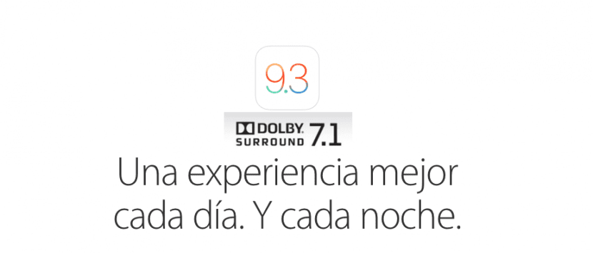 iOS 9.3 con Dolby Surround 7.1