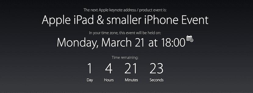 Keynote del iPhone SE