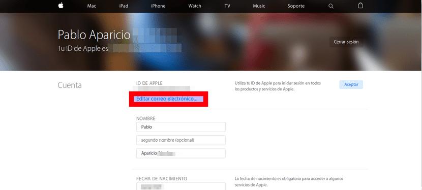 Editar ID de Apple