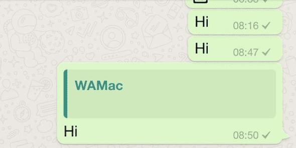 Citar mensaje en WhatsApp