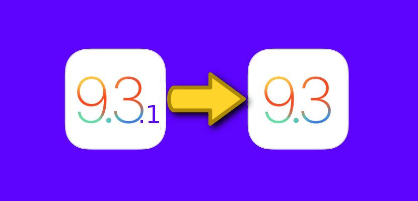 Downgrade de iOS 9.3.1 a iOS 9.3