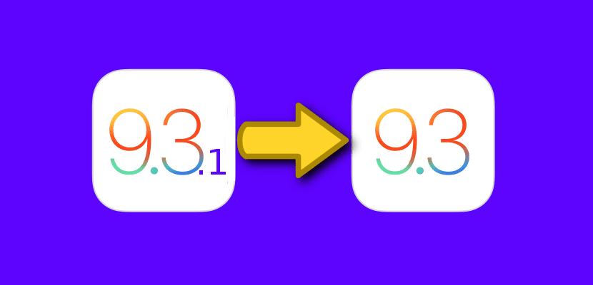 Downgrade de iOS 9.3.1 a iOS 9.3