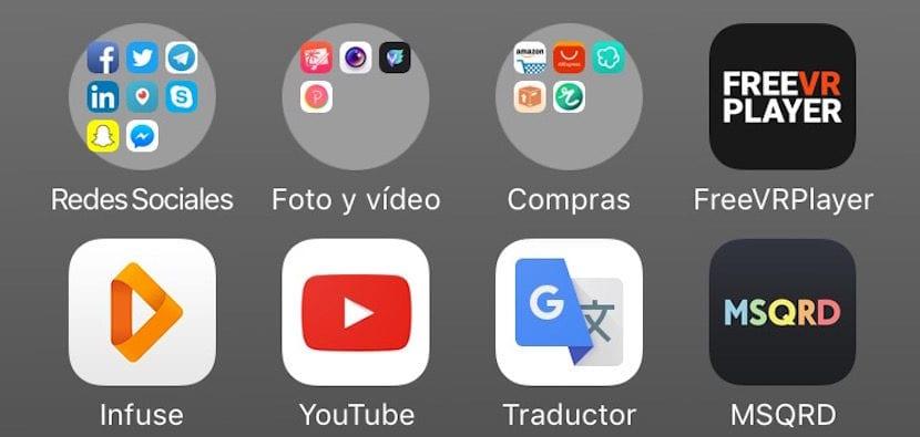 Carpetas Redondas iOS