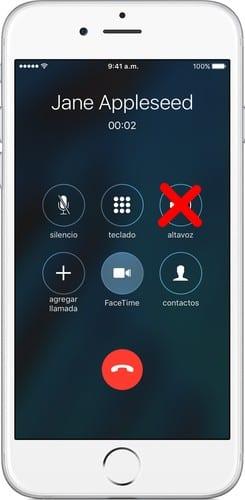 iPhone que no se escucha en las llamadas