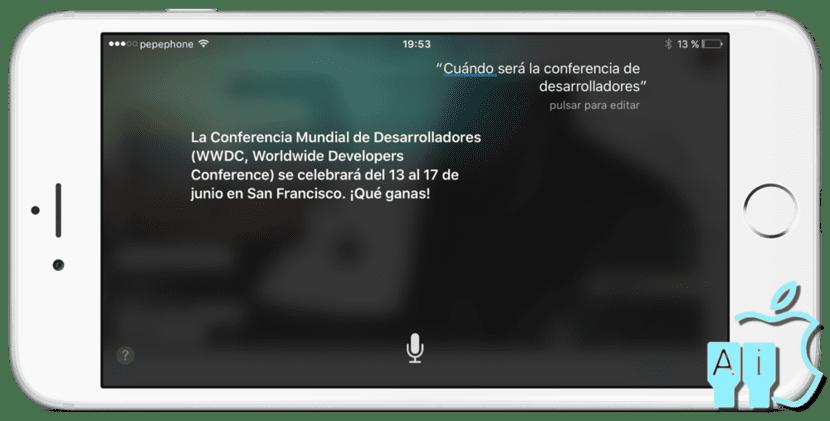 Siri revela cuando sera la WWDC 2016