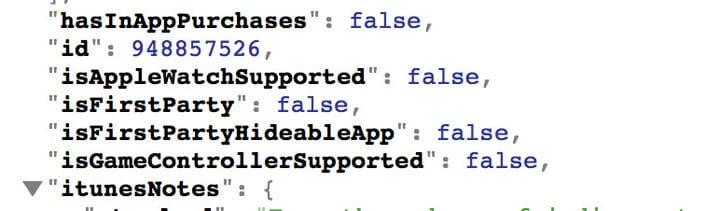Captura del código que demuestra que se podrán ocultar apps con iTunes