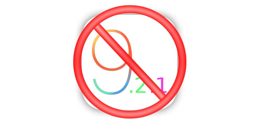 iOS 9.2.1 no se firma