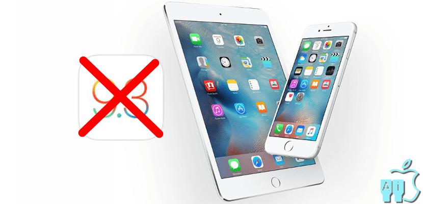 iOS 9.3 ya no se firma