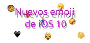 Nuevos emoji de iOS 10