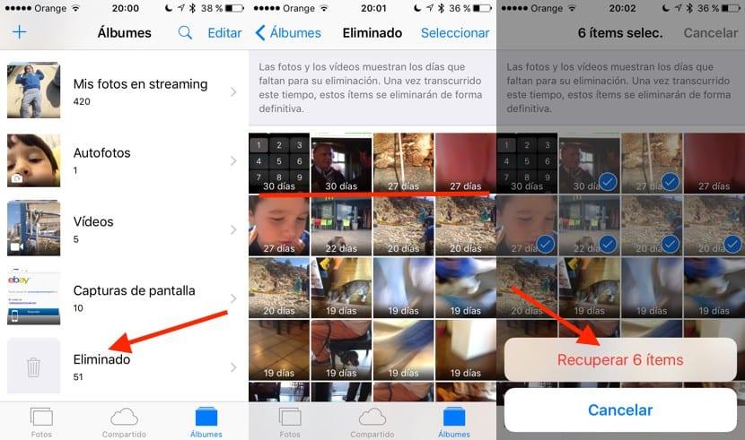 Recuperar imágenes borradas del iPhone
