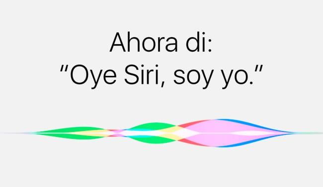 Configurar Oye, Siri