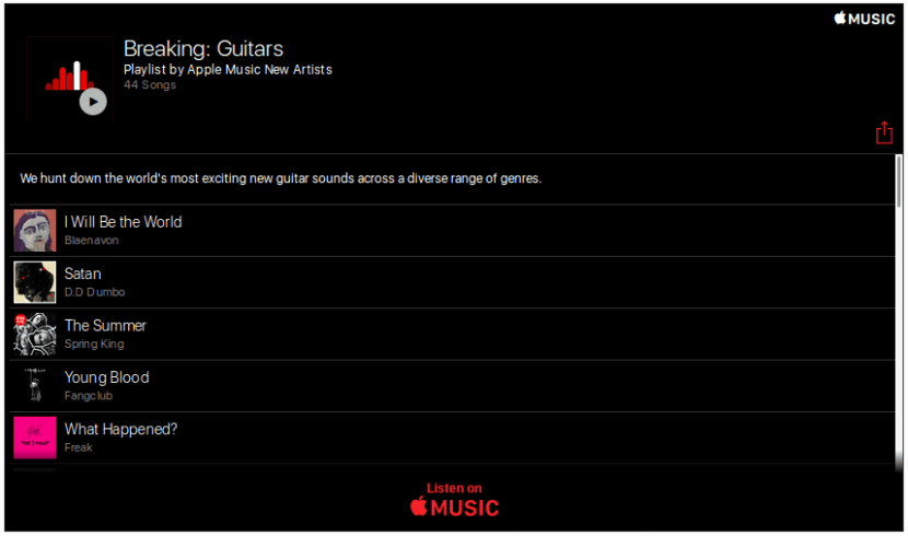Breaking: Guitars-Apple Music