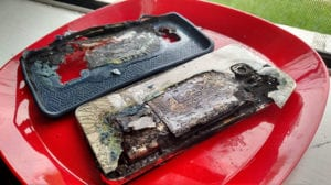 Galaxy S6 Edge+ en llamas