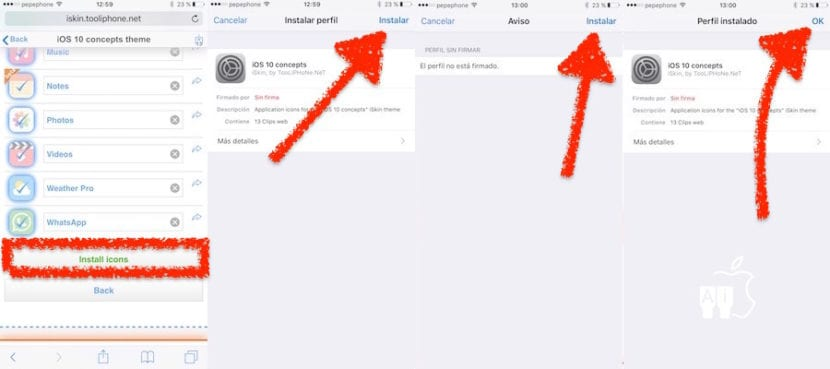 Instalar temas en iOS sin jailbreak