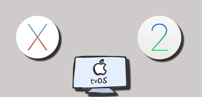 OS X, tvOS y watchOS