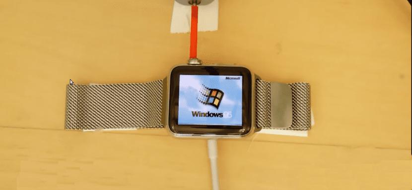Windows 95 en un Apple Watch