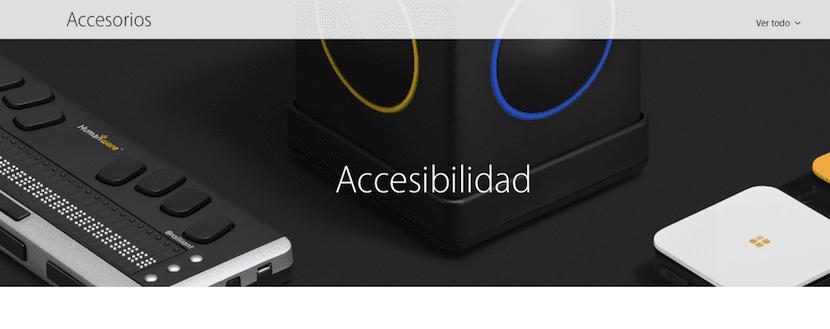 Sección de Accesibilidad en la Apple Store