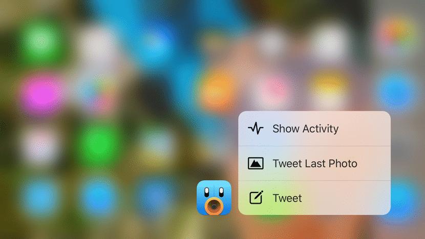 Acceso rápidos Tweetbot
