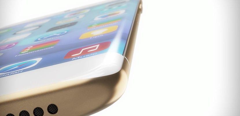 iPhone con pantalla curva
