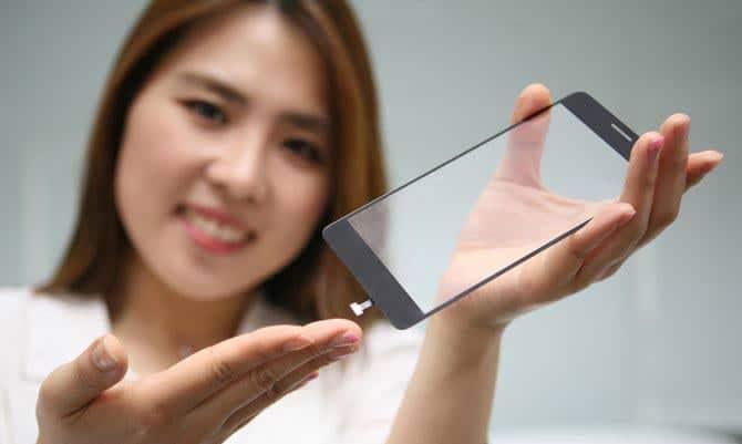 LG lector de huellas integrado en pantalla