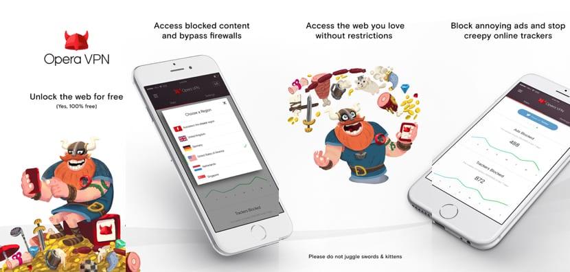 Opera VPN, un servicio VPN gratuito e ilimitado para nuestro iPhone