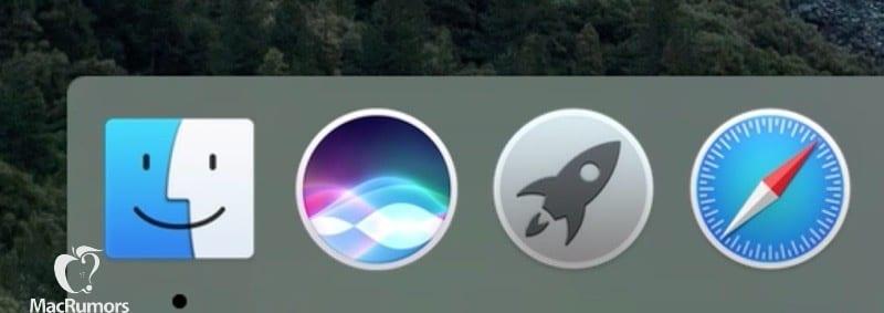 Siri para Mac en el Dock
