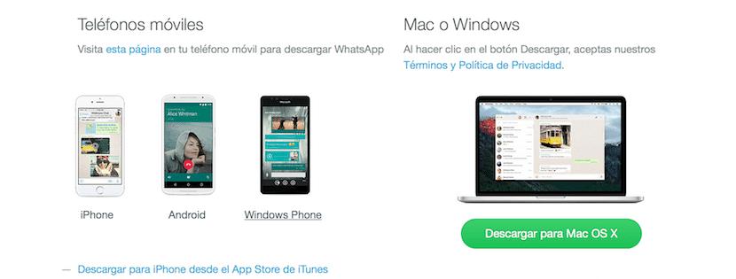 WhatsApp para MacOS y PC