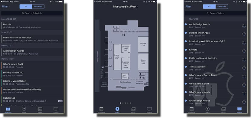 Aplicación WWDC