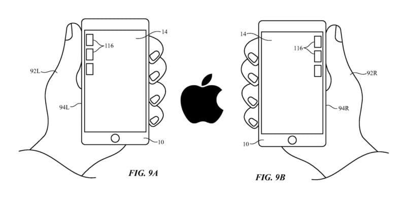 Patente para coger el iPhone con una sola mano