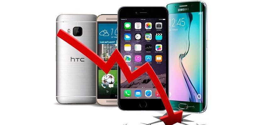 Caen las ventas de smartphones
