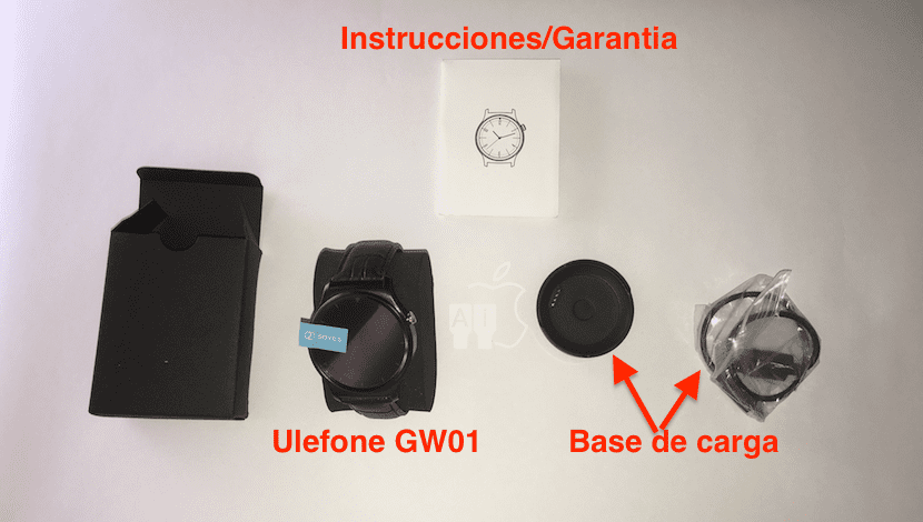 Contenido de la caja del Ulefone GW01