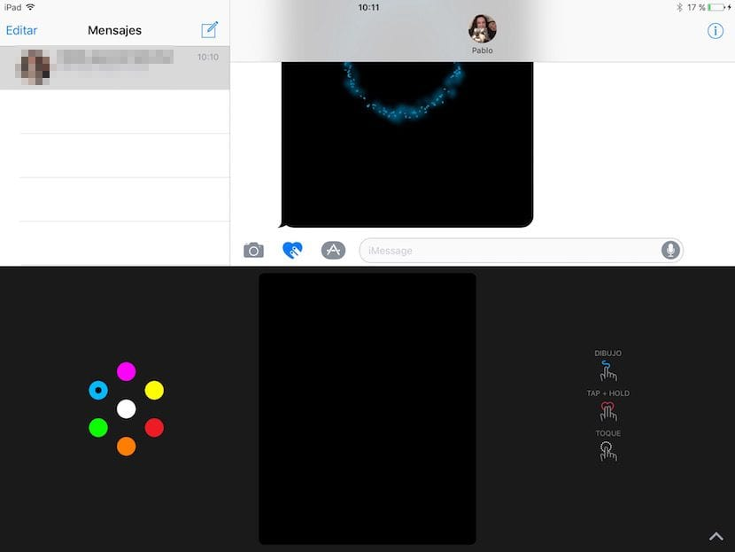Digital Touch en Mensajes de iOS 10
