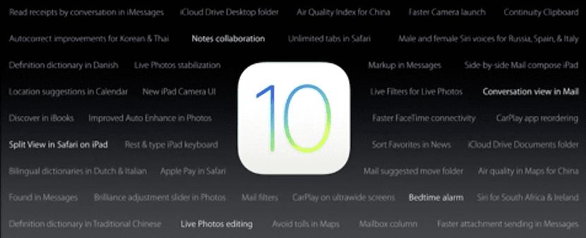 Funciones de iOS 10