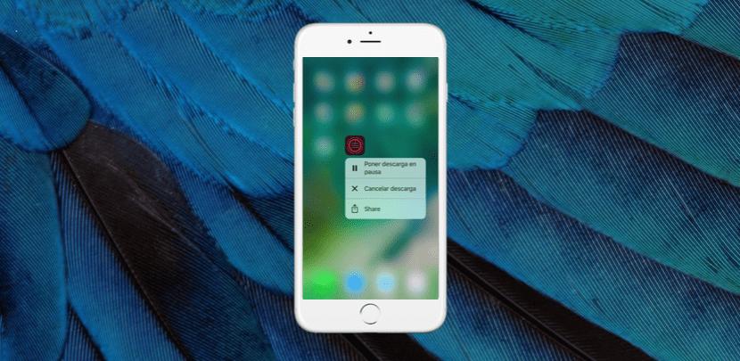 Gestiona las descargas del App Store con el 3D Touch