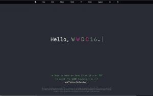 Página donde se emitirá la WWDC 2016