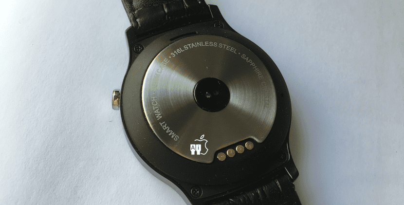 Parte posterior del Ulefone Smartwatch