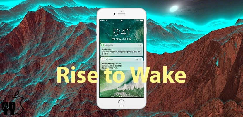 Rise to Wake de iOS 10