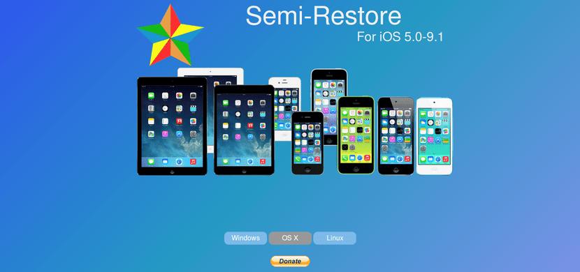 Semi-Restore para iOS 5-iOS 9.1