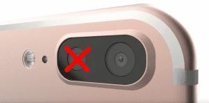 iPhone 7 Pro sin cámara dual