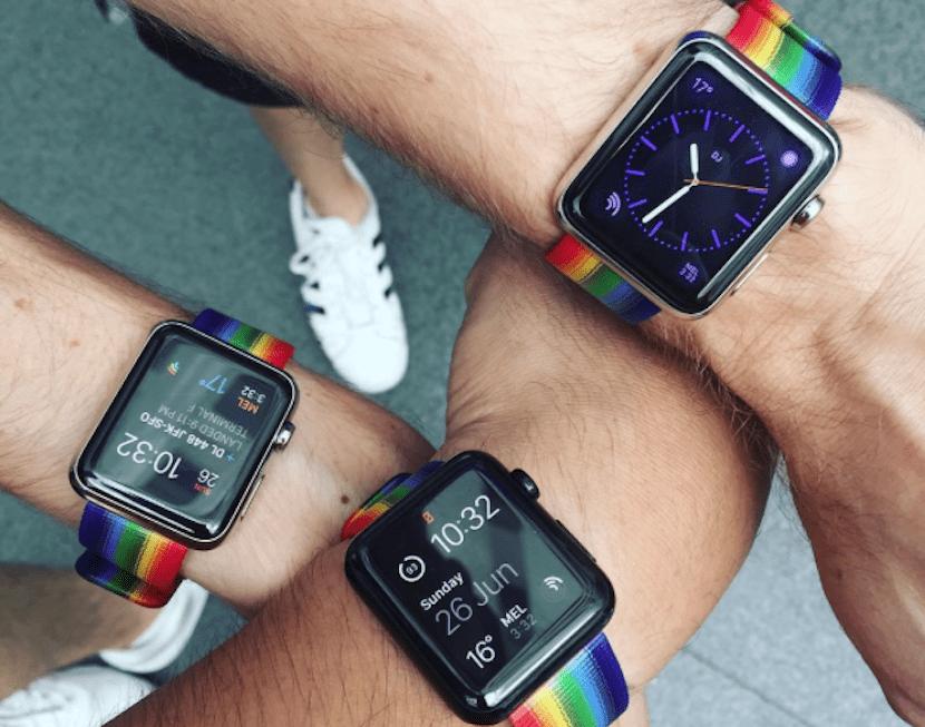 Correas arcoiris para Apple Watch
